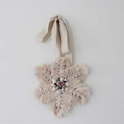 Shell Flower Wall Art - Macrame Mini