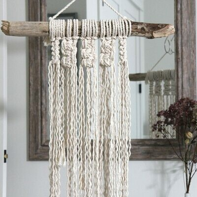 Natural Cable Knit Wall Hanging