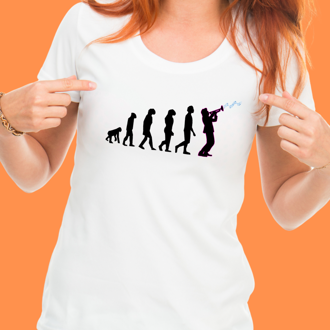 Jazz Evolution T-Shirt (Fitted Ladies)