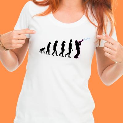 Jazz Evolution T-Shirt (Fitted Ladies)