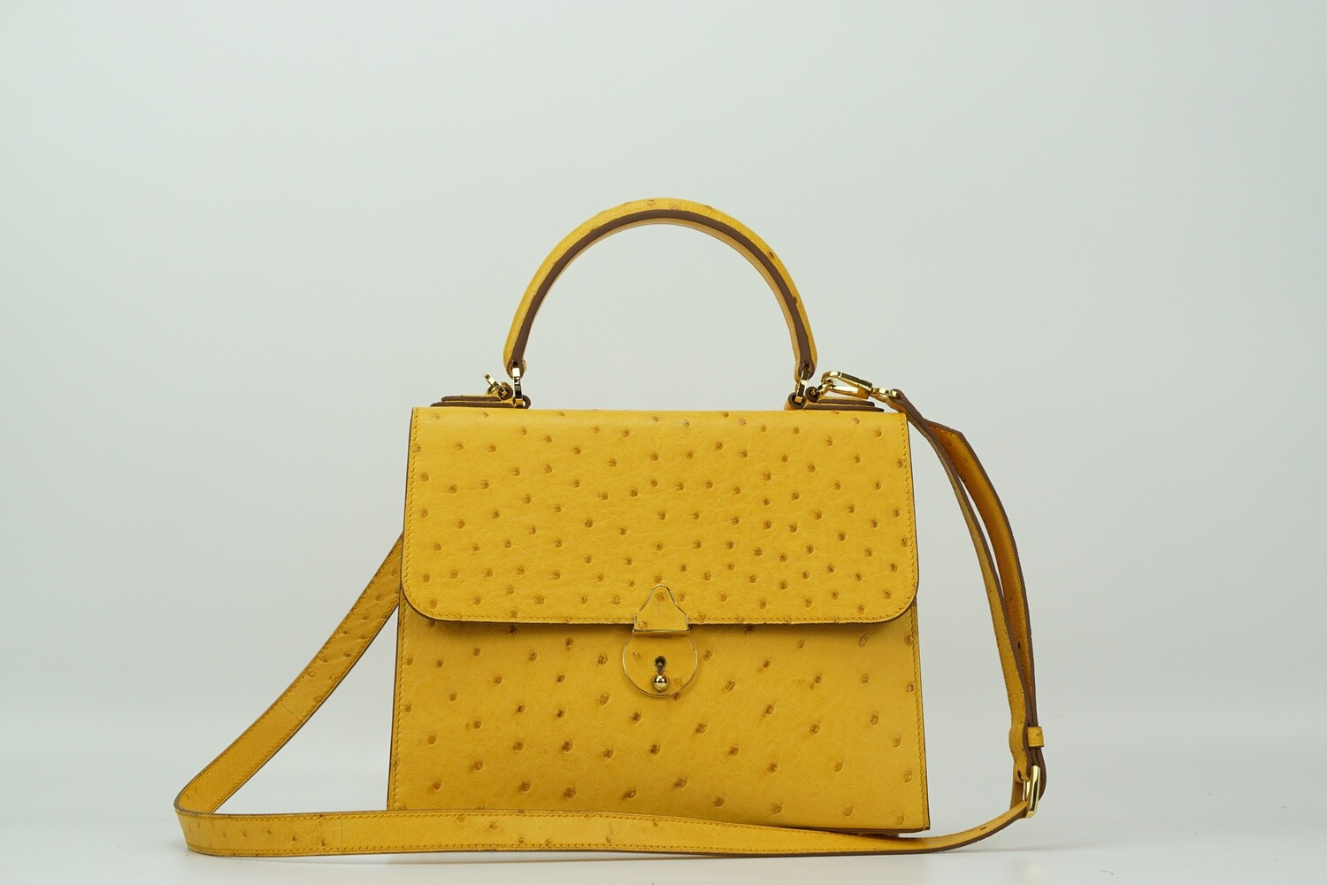 Dolores 25 Ostrich Amber Gold