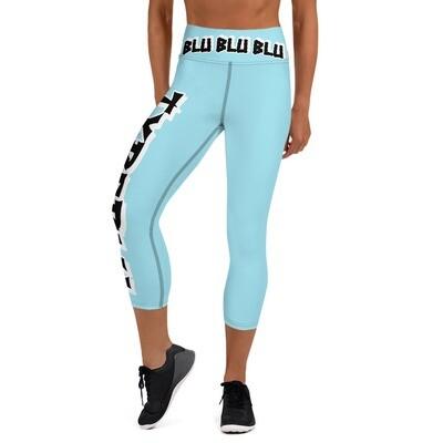 Blu Yoga Capri Leggings