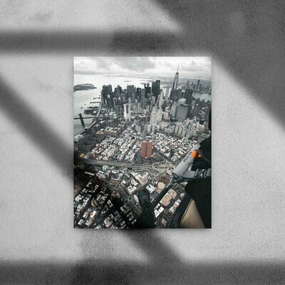 """Print """"BIG APPLE FROM ABOVE"""""""