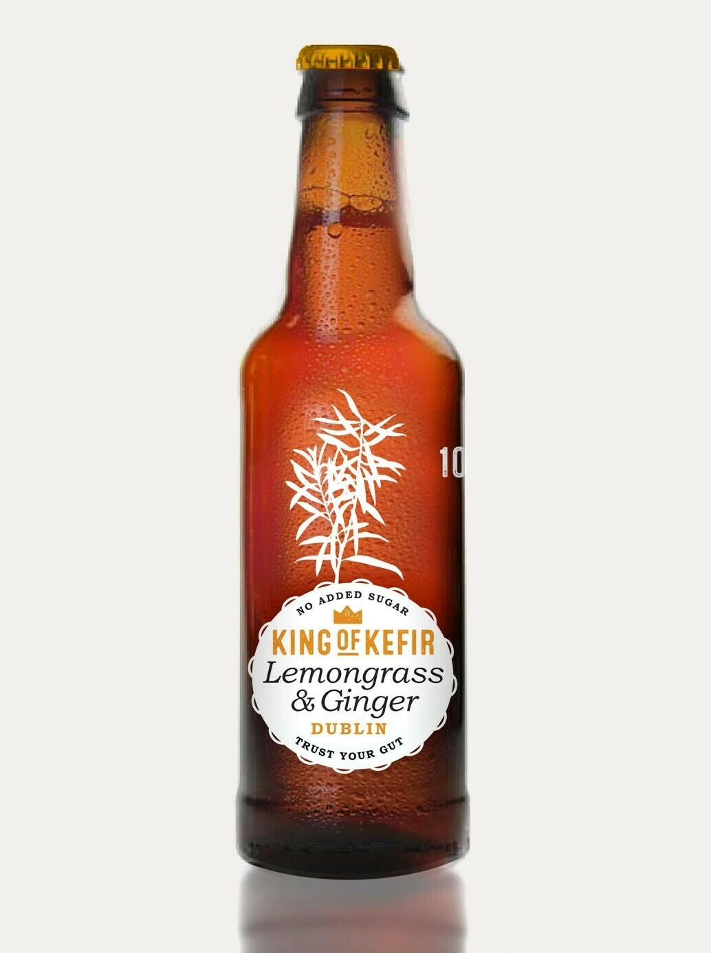 King of Kefir Lemongrass & Ginger, 12 x 330ml