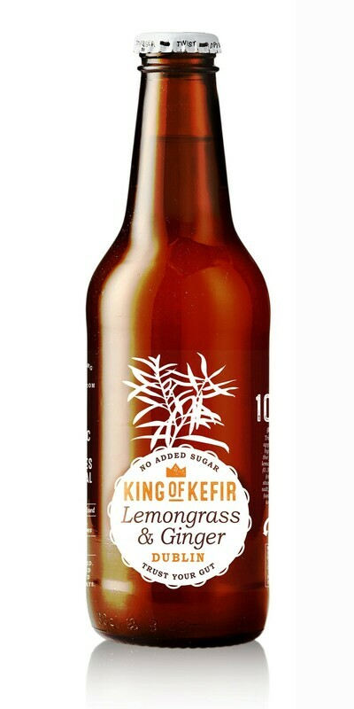 King of Kefir Lemongrass & Ginger, 12 x 330ml