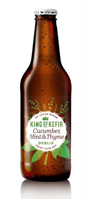 King of Kefir Cucumber Mint & Thyme, 12 x 330ml