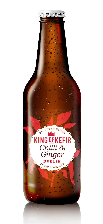 King of Kefir Chilli & Ginger, 12 x 330ml