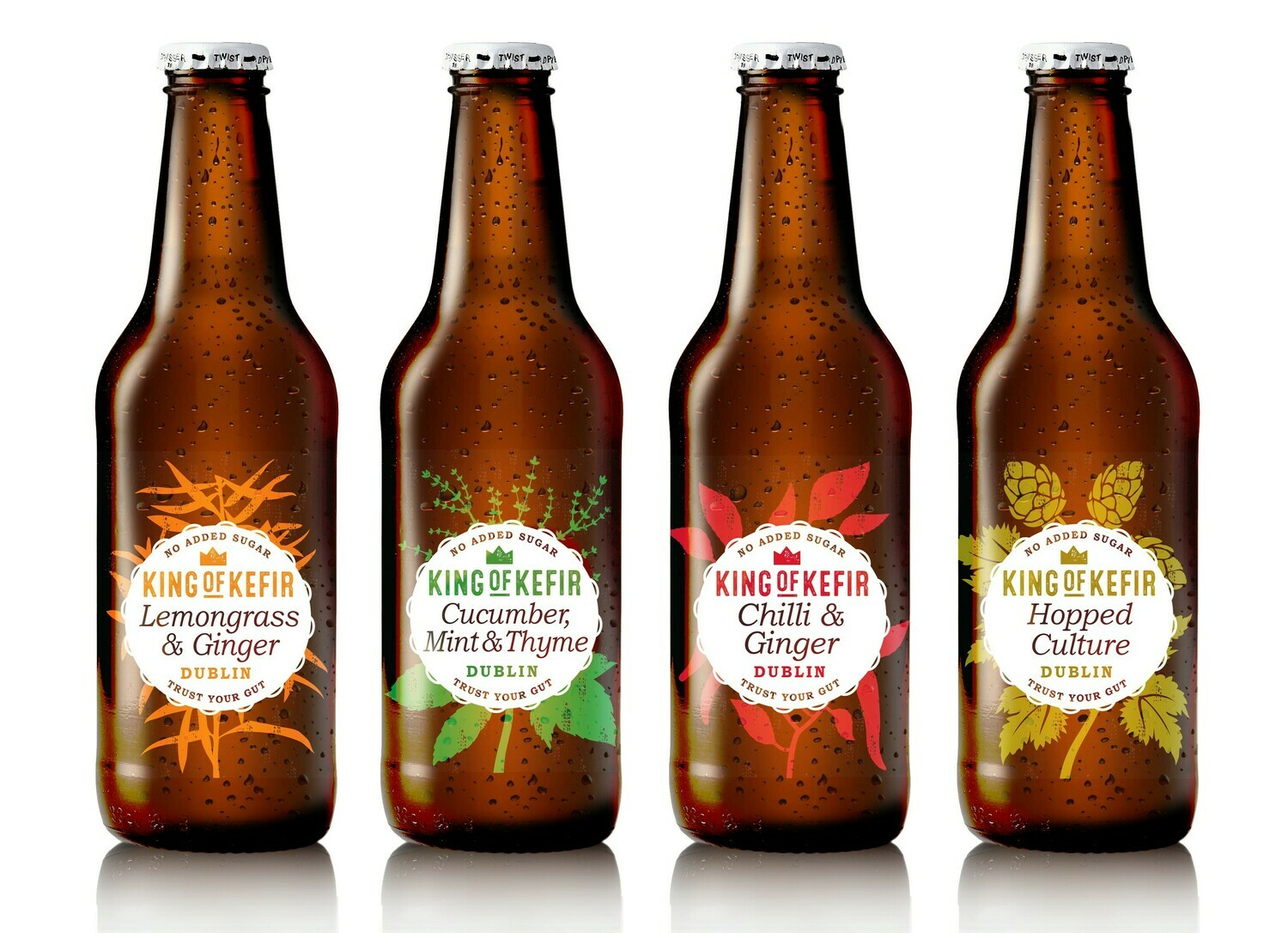 King of Kefir Sample pack with four flavours, 12 x 330ml