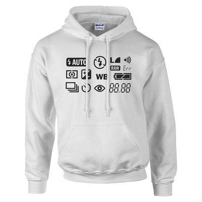 camera screen hoodie