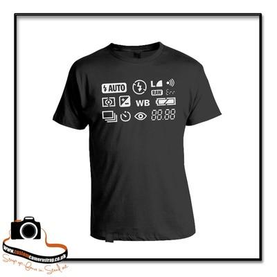 camera screen t-shirt