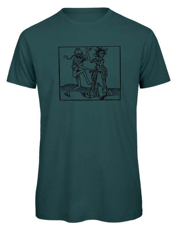 Bio T- Shirt Siebdruck, 6 Farben, Totentanz
