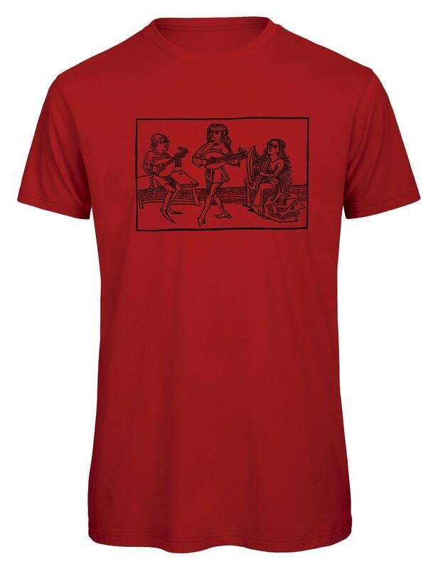 Bio T- Shirt Siebdruck, 6 Farben, Musiker