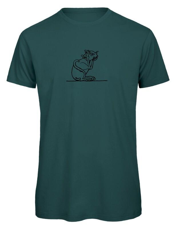 Bio T- Shirt Siebdruck, 6 Farben, Katze 1