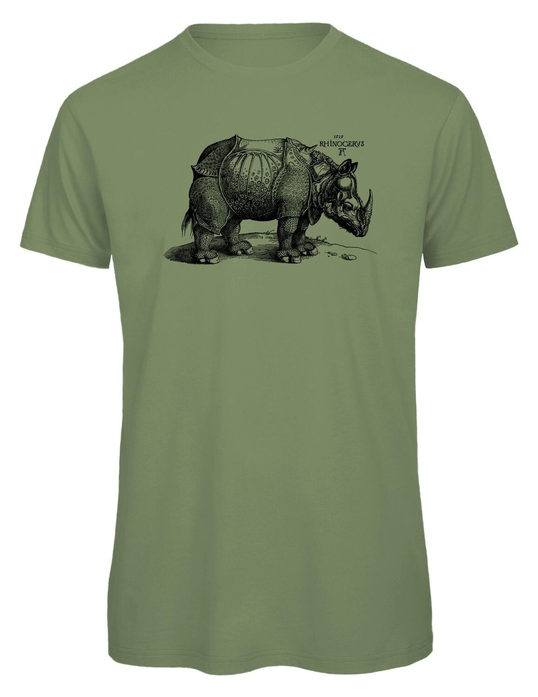 Bio T- Shirt Siebdruck, 6 Farben, Rhinocerus