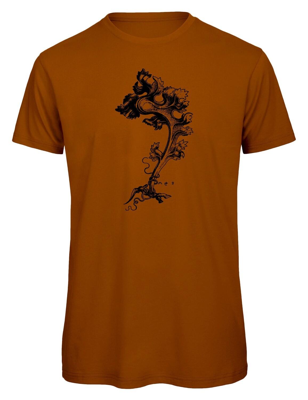 Bio T- Shirt Siebdruck, 6 Farben, Ranke