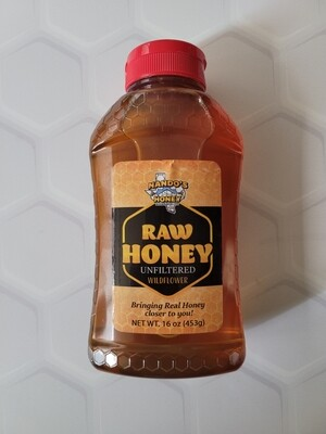 1lb Raw and Unfiltered Wildflower Honey