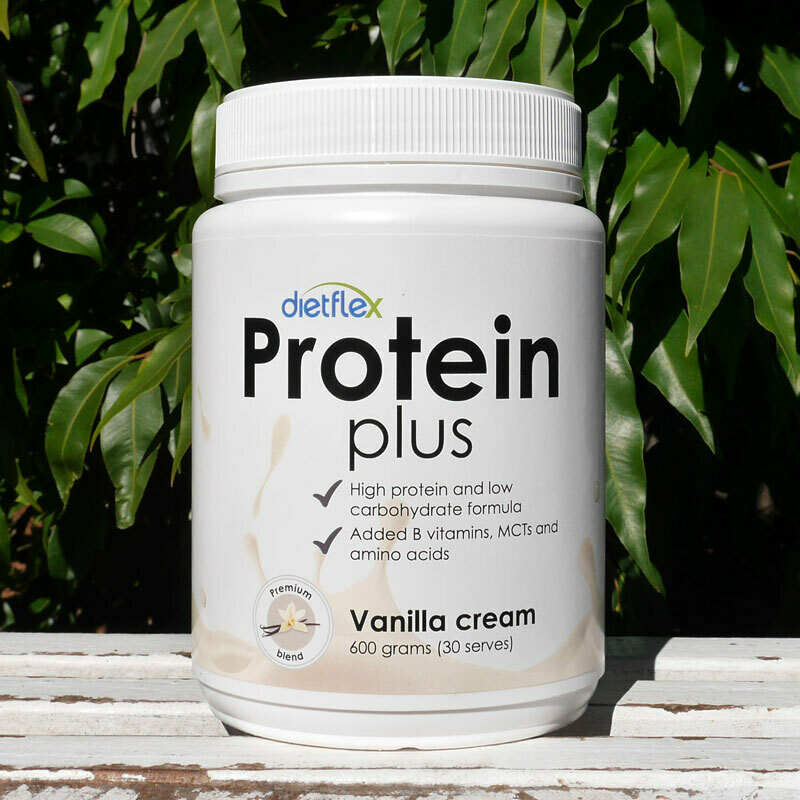 Low carb, Protein Plus Vanilla Cream powder, 12 pots