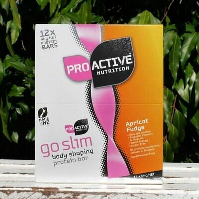Low carb, protein Go Slim Apricot Fudge bars, box of 12