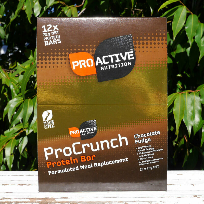 Low carb, protein Pro-crunch Chocolate bars, box of 12