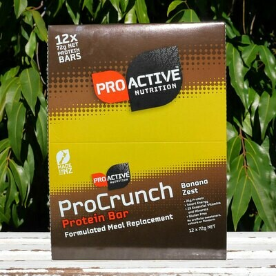 Low carb, protein Pro-crunch Banana bars, 12 in a box