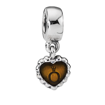 PANDORA - FOREVER AMBER HEART DANGLE BEAD
