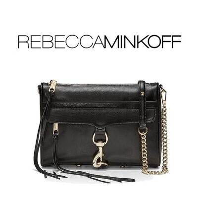 MAC CROSSBODY BY REBECCA MINKOFF BLACK/GOLD