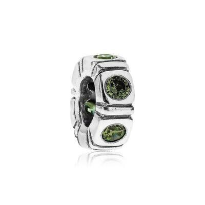 PANDORA - SET OF 2 SPACERS - NORTHERN LIGHTS GREEN TRINITY CHARM