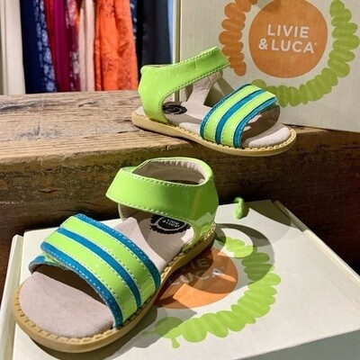LIVIE & LUCA - TAFFY - GREEN APPLE PATENT LEATHER SANDAL
