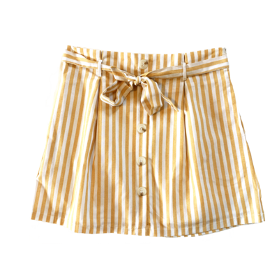 &Merci - White/Yellow Striped Skirt