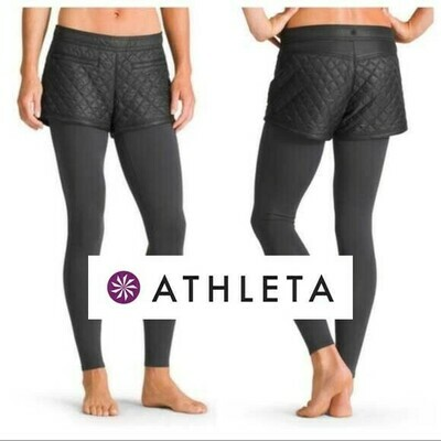 ATHLETA - TOASTY BUNS QUILTED SHORTS