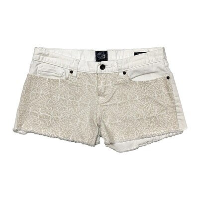 LUCKY BRAND - RILEY SHORTS - WHITE EMBROIDERY SHORTS