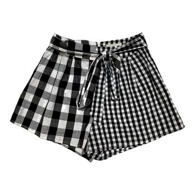 Never Fully Dressed - Black/White Gingham Print Shorts