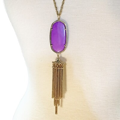 KENDRA SCOTT - RAYNE PURPLE & GOLD NECKLACE