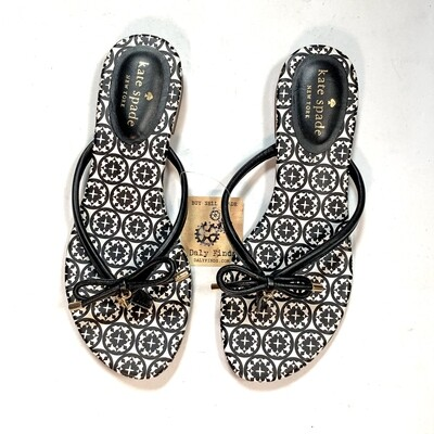 Kate Spade Black/White Patterned Sandals
