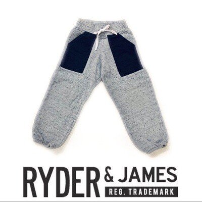 RYDER & JAMES - GREY SWEATS, BLACK POCKETS