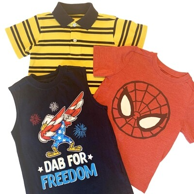 BOYS [4/5] SHIRT BUNDLE - 3 piece set - Peter