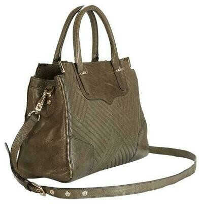 REBECCA MINKOFF - Amorous Sage Green Leather Satchel