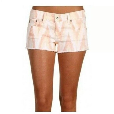 AG The Daisy - Super Low Rose Short in Ikat Print