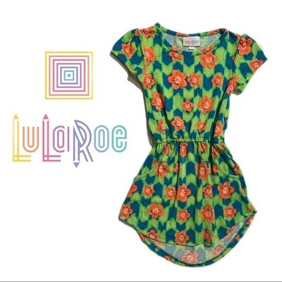 Girls LuLaRoe Mae Green Dress