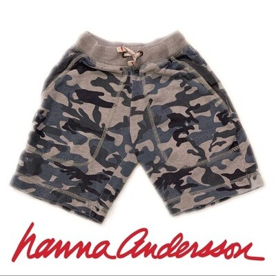 Hanna Andersson Blue and Grey Camo Shorts