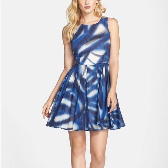 Kaya & Sloane - Print Voile fit & flare dress
