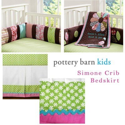 POTTERY BARN KIDS - SIMONE GREEN BEDSKIRT