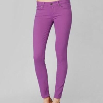 Paige Verdugo Ankle - Boysenberry Purple Jeans