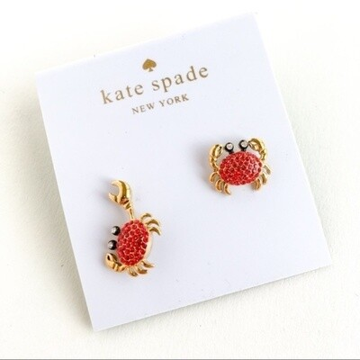 🦀Kate Spade Shore Thing Pave Crab Earrings