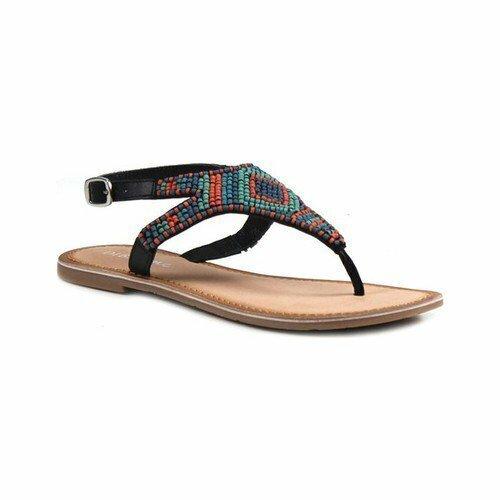 Diba True - Red Row 2 Black Sandals