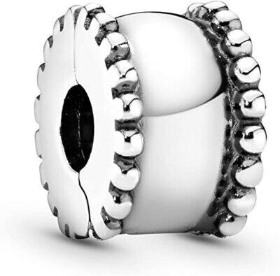 PANDORA - Beveled Silver Clip Charm