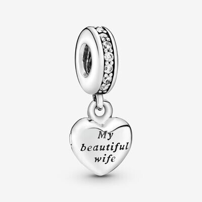 PANDORA - My Beautiful Wife Dangle Charm