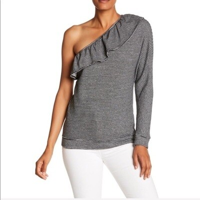 Joie - Aleesha Striped One Shoulder Top