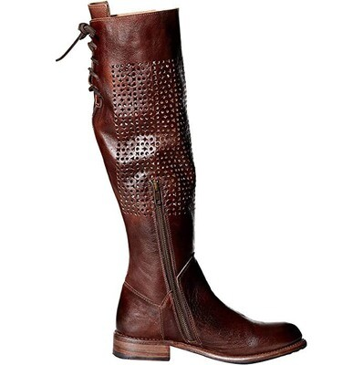 BED|STU - Cambridge Perforated Tall Motorcycle Boot
