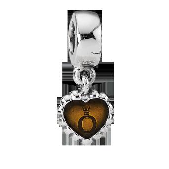 PANDORA - FOREVER AMBER HEART DANGLE BEAD